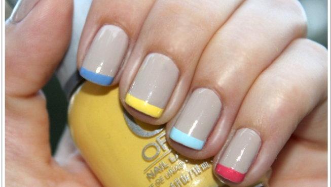 Manicura francesa con colores - Manicura francesa colores ...