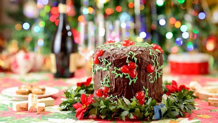 pastel chocolate Navidad